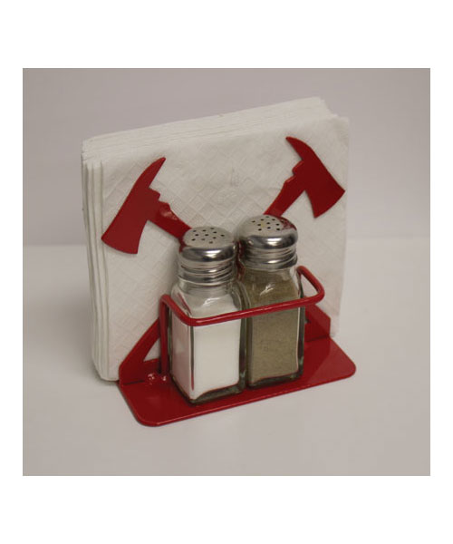 Fire Axe Napkin/Salt & Pepper Shaker Holder
